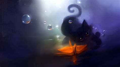 anime kitten hd wallpaper 18636 baltana black cat cartoon google search meljoce likes