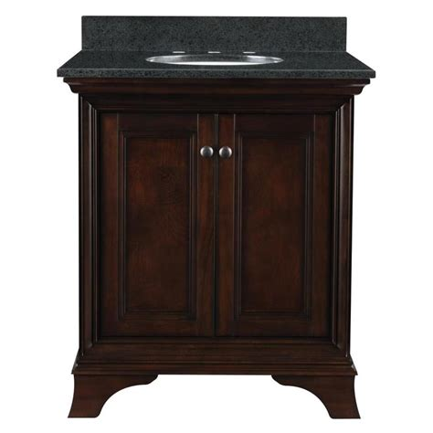 allen roth eastcott   auburn single sink bathroom vanity  diamond black granite top