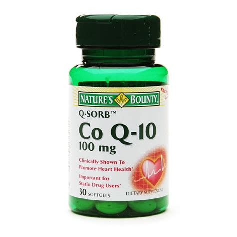 Obat Q Ten 100 Mg natures bounty q sorb coenzyme q 10 100 mg softgels 30 ea myotcstore
