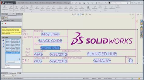 solidworks tutorial title block video tech tip solidworks title block wizard youtube