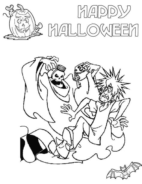 scooby doo coloring pages for halloween scooby doo scary halloween coloring page h m coloring