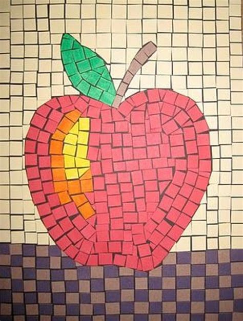 How To Make Paper Mosaic Artwork - an apple ideas apples mosaics and craft
