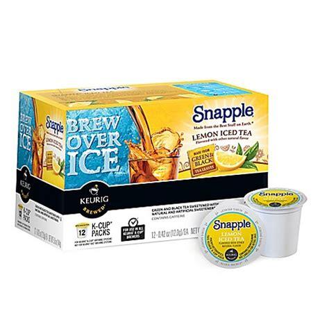 Detox Tea At Bed Bath And Beyond by Buy Keurig 174 K Cup 174 Pack 12 Count Snapple 174 Lemon Iced Tea