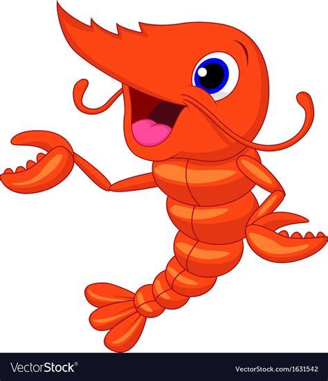 shrimp clip shrimp presenting royalty free vector image