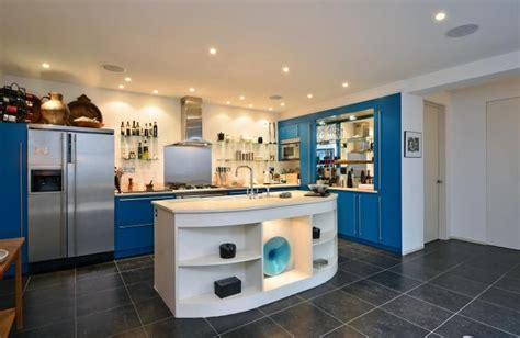 modern blue kitchen modern kitchen royal blue panda s house