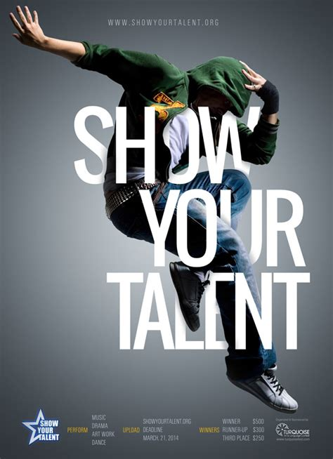 poster design dance show your talent poster by ismail abay http
