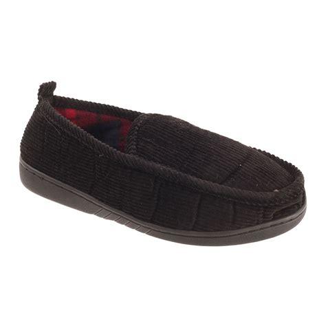 fleece lined mens slippers slumberzz mens fleece lined cord slippers ebay