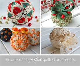 all of my quilted ornament patterns and tutorials the