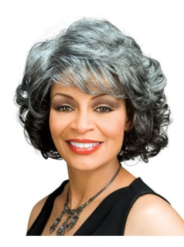 chin length grey hairstyles unique wavy chin length synthetic grey wigs grey wigs for
