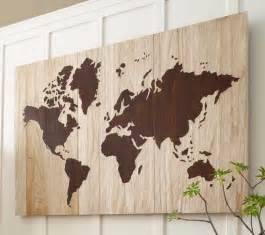 World Map Home Decor How To Create A World Map Wall