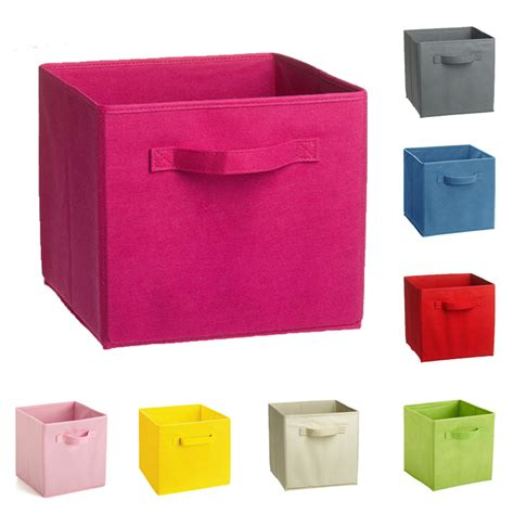 clothing storage bins non woven fabric folding storage box cube kids toy