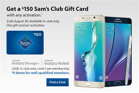 Gift Card Without Activation Fee - take this call free 150 sam s club gift card with samsung