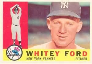 Whitey Ford Baseball Card 1960 Topps Whitey Ford 35 Baseball Card Value Price Guide