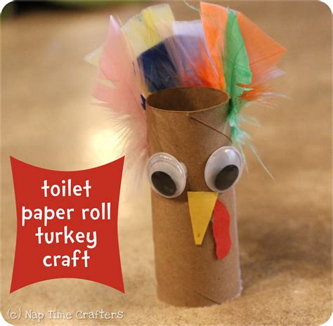 Thanksgiving Toilet Paper Roll Crafts - easy turkey craft peek a boo pages patterns fabric