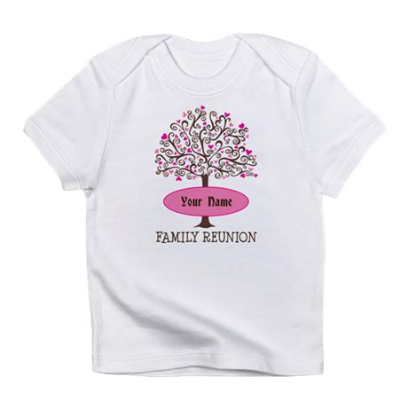 personalized family tree reunion infant t shirt by