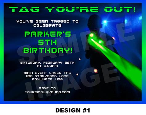 printable birthday invitations laser tag laser tag invitation laser tag invite party printable