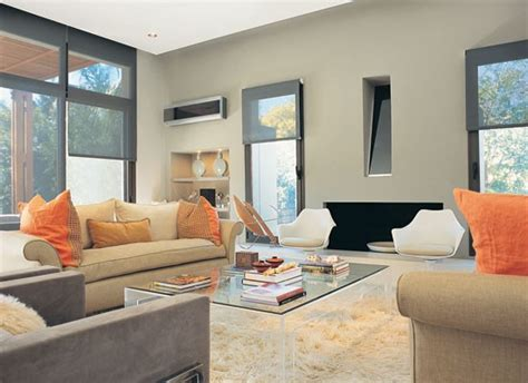color living sala gris con naranja y beiges living moderno salas y