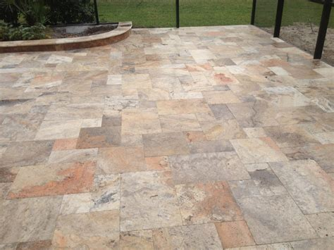 Travertine Patio Pavers Scabos Travertine Pavers Tuscany Porcini Pavers Tuscany Scabas Paver