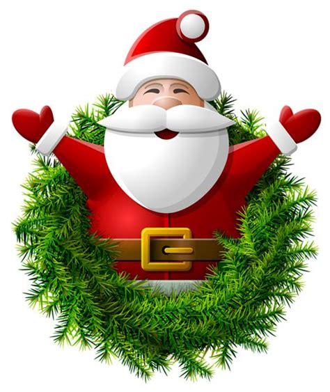 santa claus wreath png clipart image natal pinterest natal clipart images  gifs