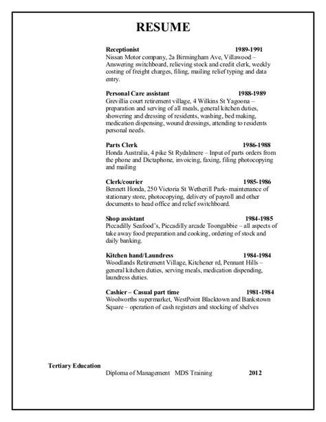 Perioperative Resume Australia Resume