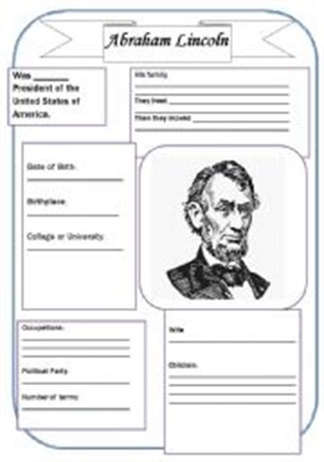 biography of abraham lincoln worksheet abraham lincoln worksheets worksheets releaseboard free