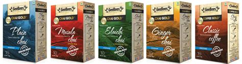 Geebees Chai Gold Unsweetened geebees pre mix chai and pre mix coffee instant chai instant coffee only with geebees