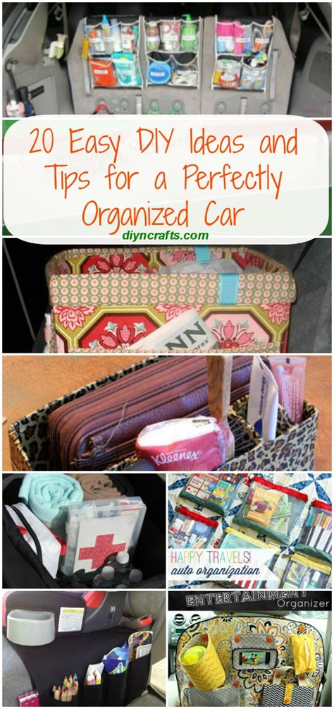 Diy Home Cleaning Ideas 20 Easy Diy Ideas And Tips For A Perfectly Organized Car