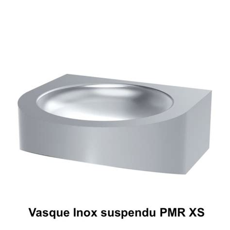 lavabo inox vasques inox vasque inox suspendu pmr xs delabie