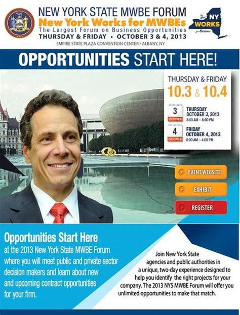 New York Mba Management Fast Track Position by Third Annual Mwbe Forum To Fast Track Business And