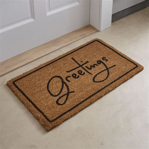 welcome mat door mats front door mat large outdoor indoor entrance doormat by abi