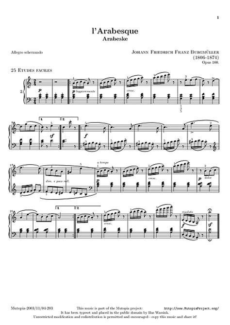 l'Arabesque Original version - Piano - Partituras