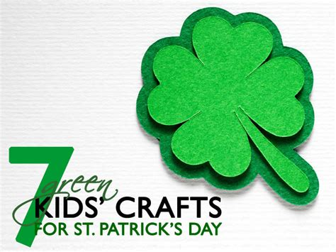 st patricks day craft for 7 green st s day crafts for inhabitots