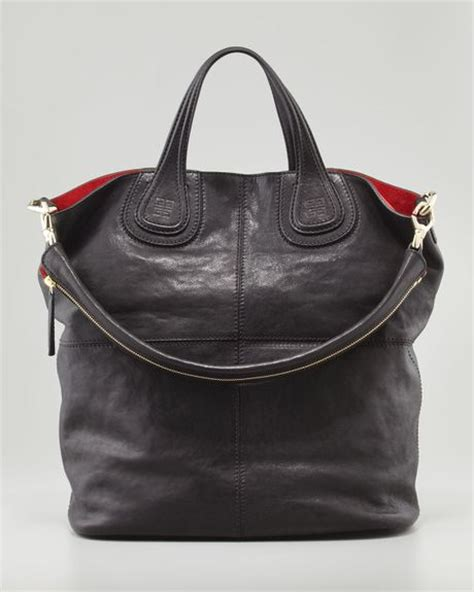Givency Blck Parvert Tote Pouch givenchy nightingale south zanzi tote bag black in black lyst