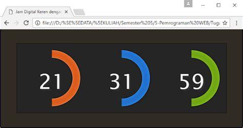 membuat jam digital pada web tutorial membuat widget jam digital keren dengan jquery