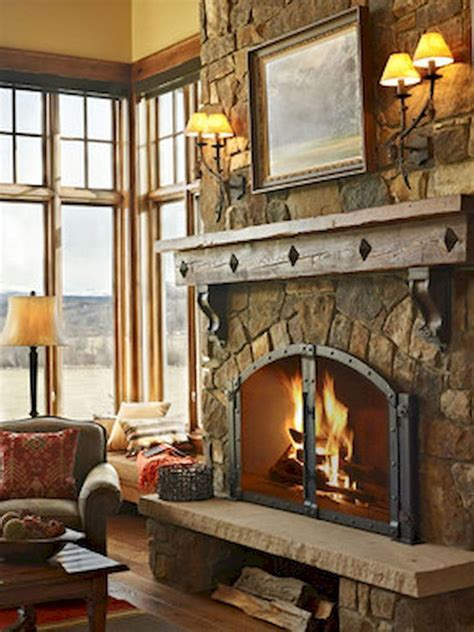 gorgeous farmhouse fireplace mantel design  decor