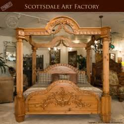 canopy bed carved custom bedroom furniture