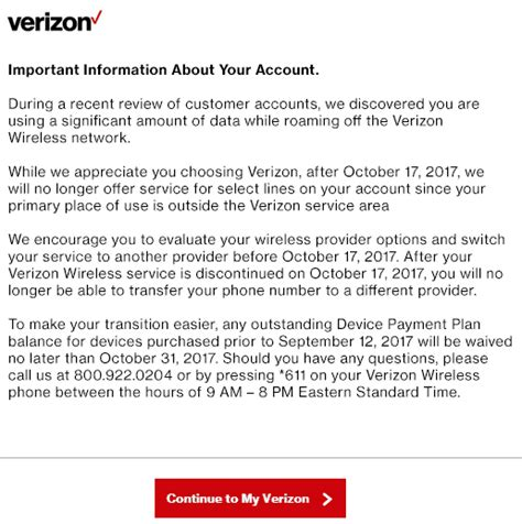 Ftc Closing Letter Verizon Stop The Cap Verizon Wireless Pushes Customer To Upgrade Data Plan Before Closing His Account