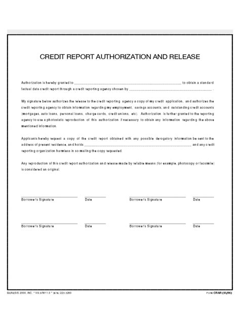 employment authorization form exle credit authorization form 3 free templates in pdf word