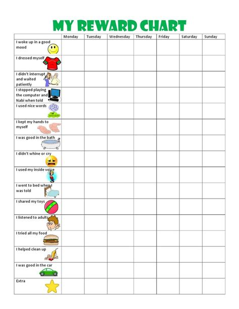 printable reward chart school best 25 behavior chart toddler ideas on pinterest