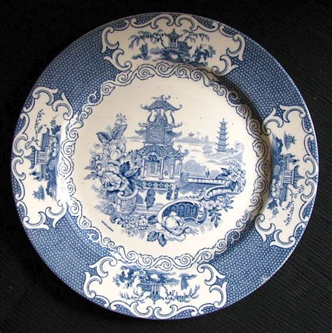 plate patterns allertons plate quot chinese quot pattern blue transferware