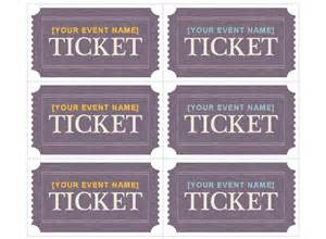 avery printable tickets template blank ticket template images