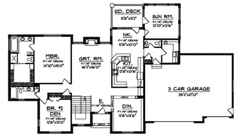 Hatfield House Floor Plan Hatfield Place Ranch Home Plan 051d 0515 House Plans And More