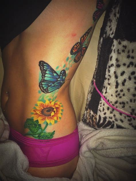butterfly and sunflower tattoo designs 53 sunflower tattoos blossoms seeking out light