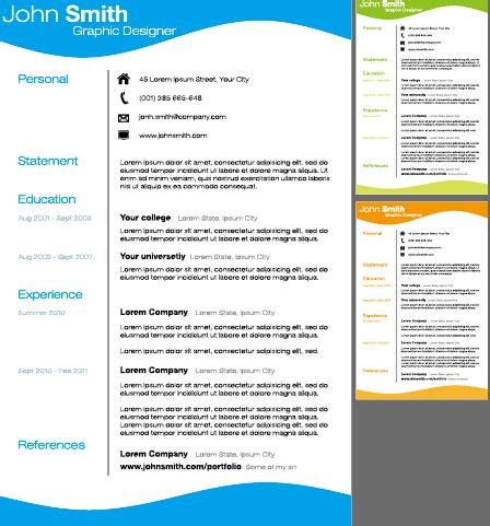 Creative Resume Template Design Vector 03 Free Over Millions Vectors Stock Photos Hd Creative Resume Templates Powerpoint
