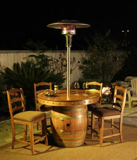 Wine Barrel Patio Table Glen S Wine Barrel Tables Vintage Wine Barrel Furniture
