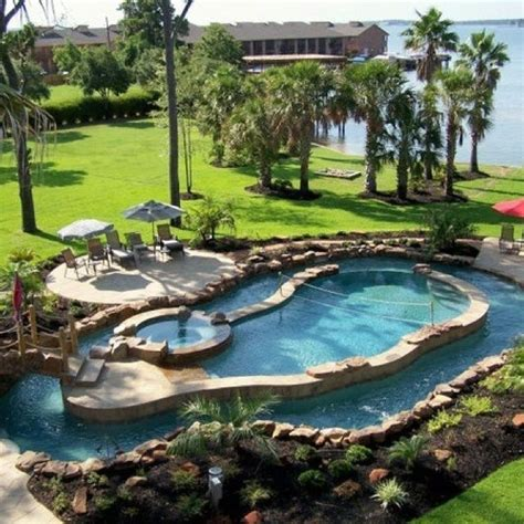 How To Build A Lazy River In Your Backyard by Best 20 Lazy River Pool Ideas On Backyard Lazy River Amazing Bathrooms And Pools