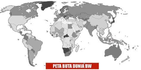 peta dunia berwarna dan hitam putih lengkap