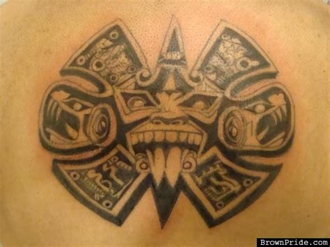 brown pride tattoos designs aztec calendar tattoos one day