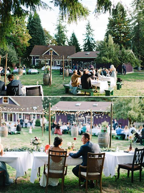 Blog Beautiful Easy Going Wedding Cheap Backyard Wedding Reception Ideas