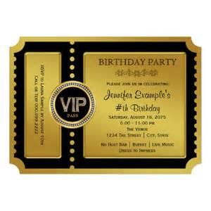 vip golden ticket birthday party invitation ladyprints